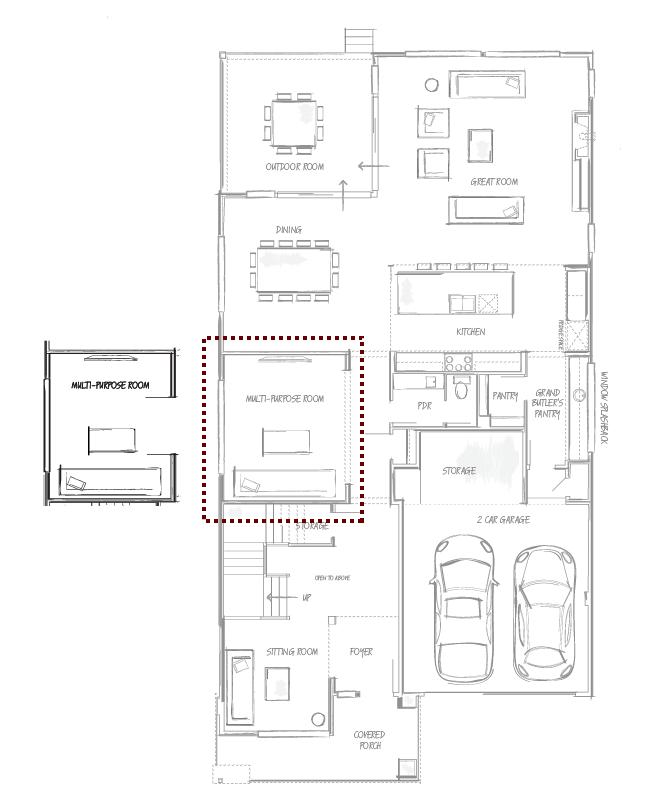 Enclosed Multi-Purpose Room