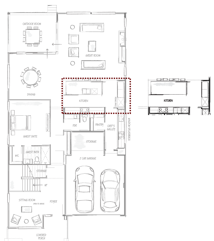 Alternate Kitchen layout