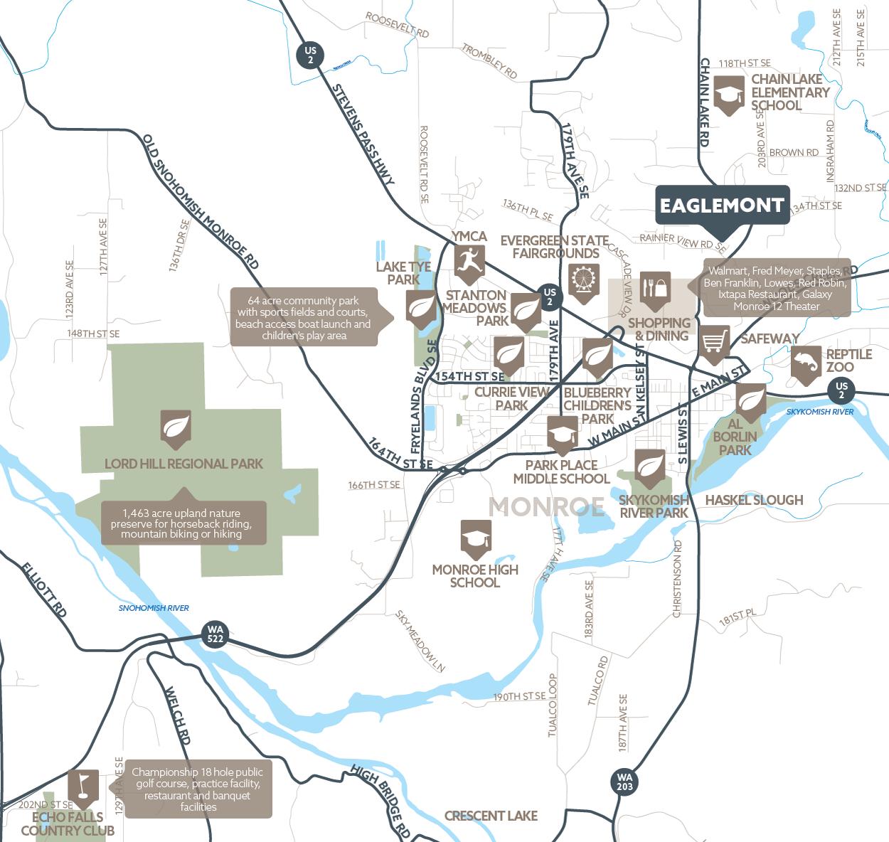 Eaglemont amenity map