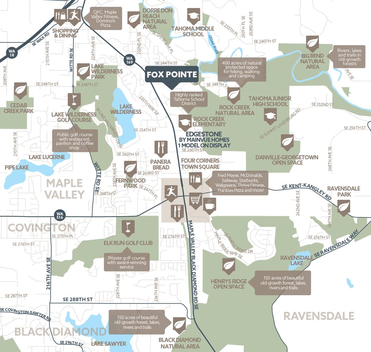 Fox Pointe amenity map