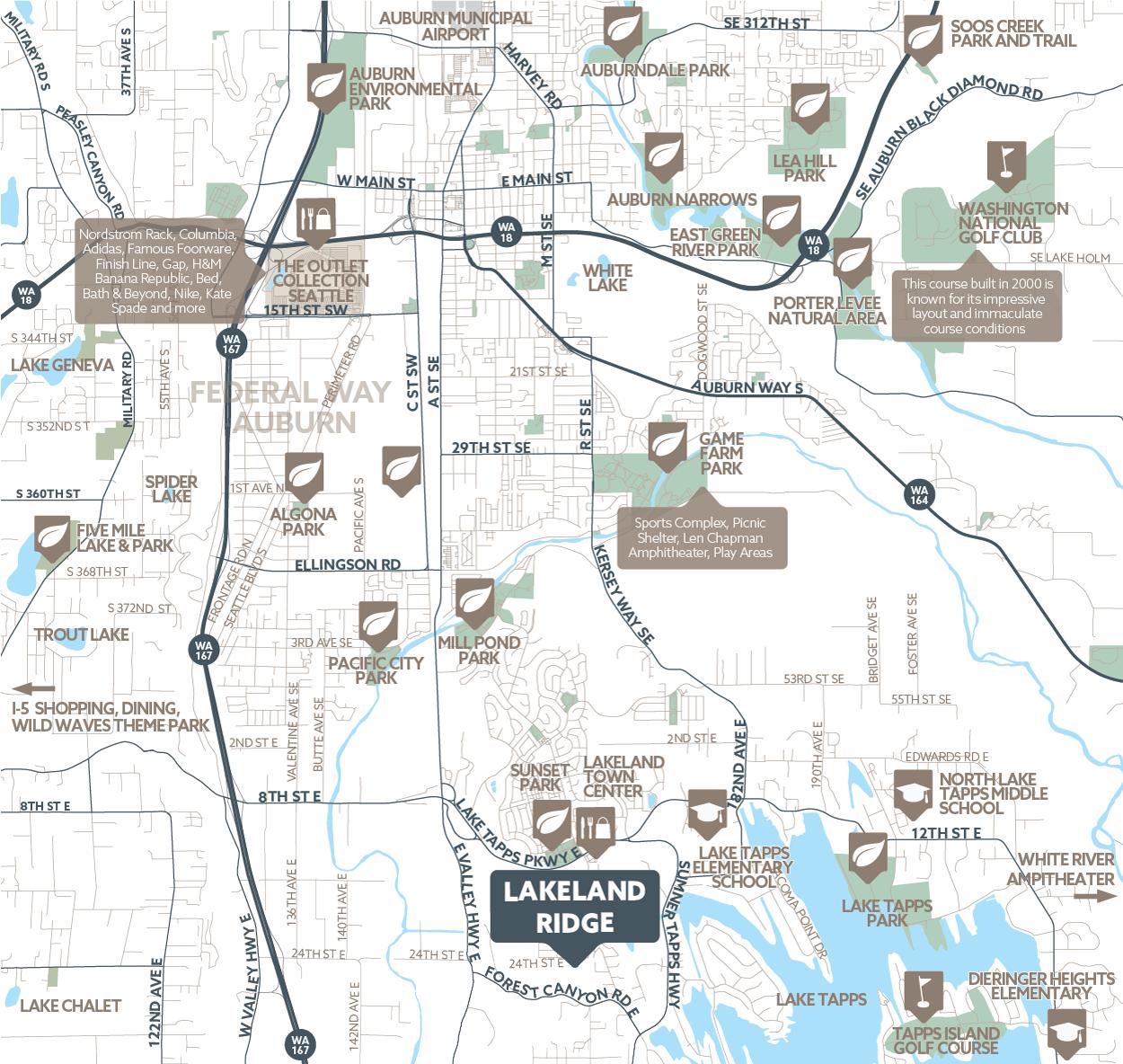 Lakeland Ridge amenity map