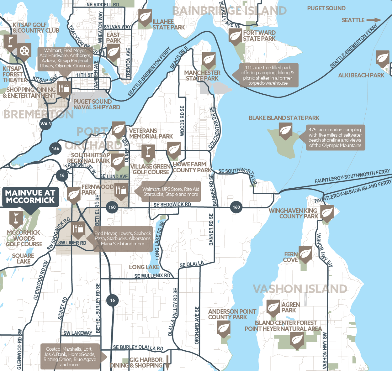 MainVue at McCormick amenity map