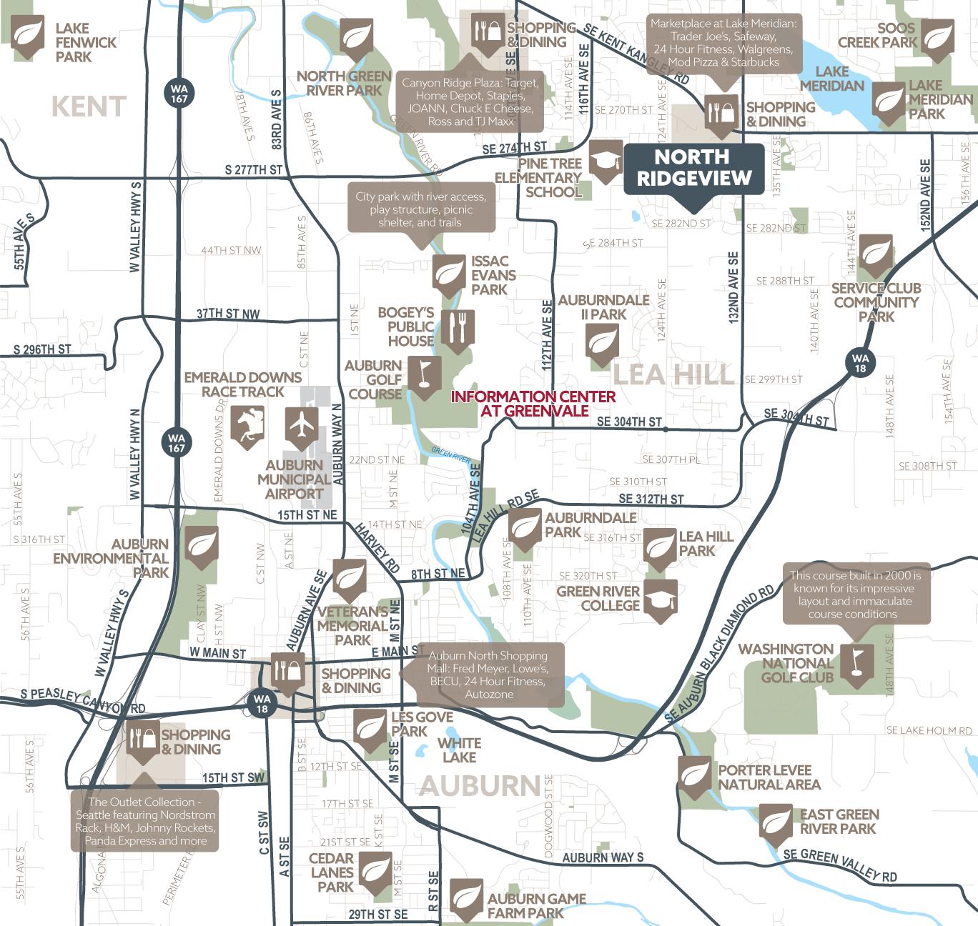 North Ridgeview amenity map