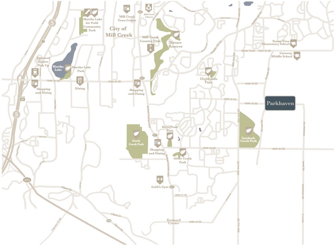 Parkhaven amenity map