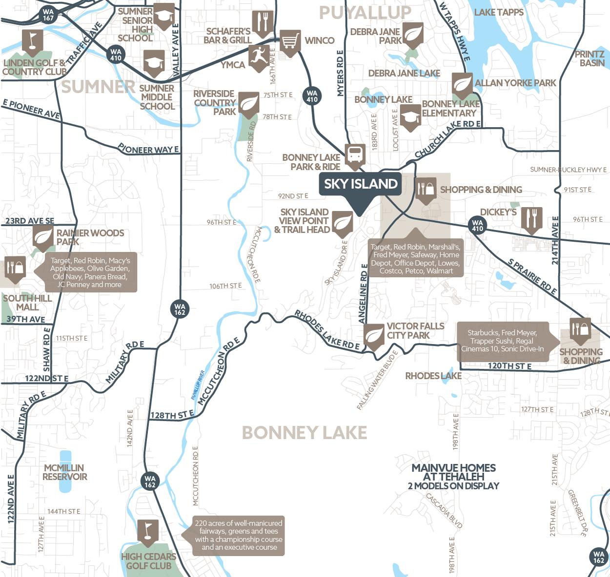 Sky Island amenity map