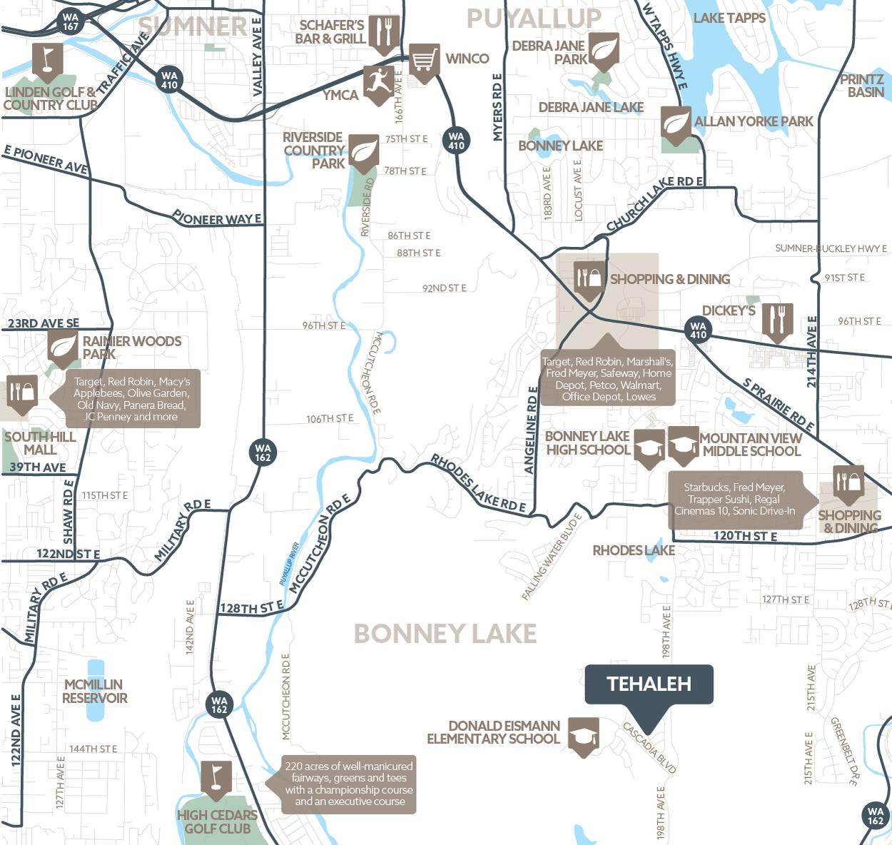 MainVue Homes at Tehaleh amenity map