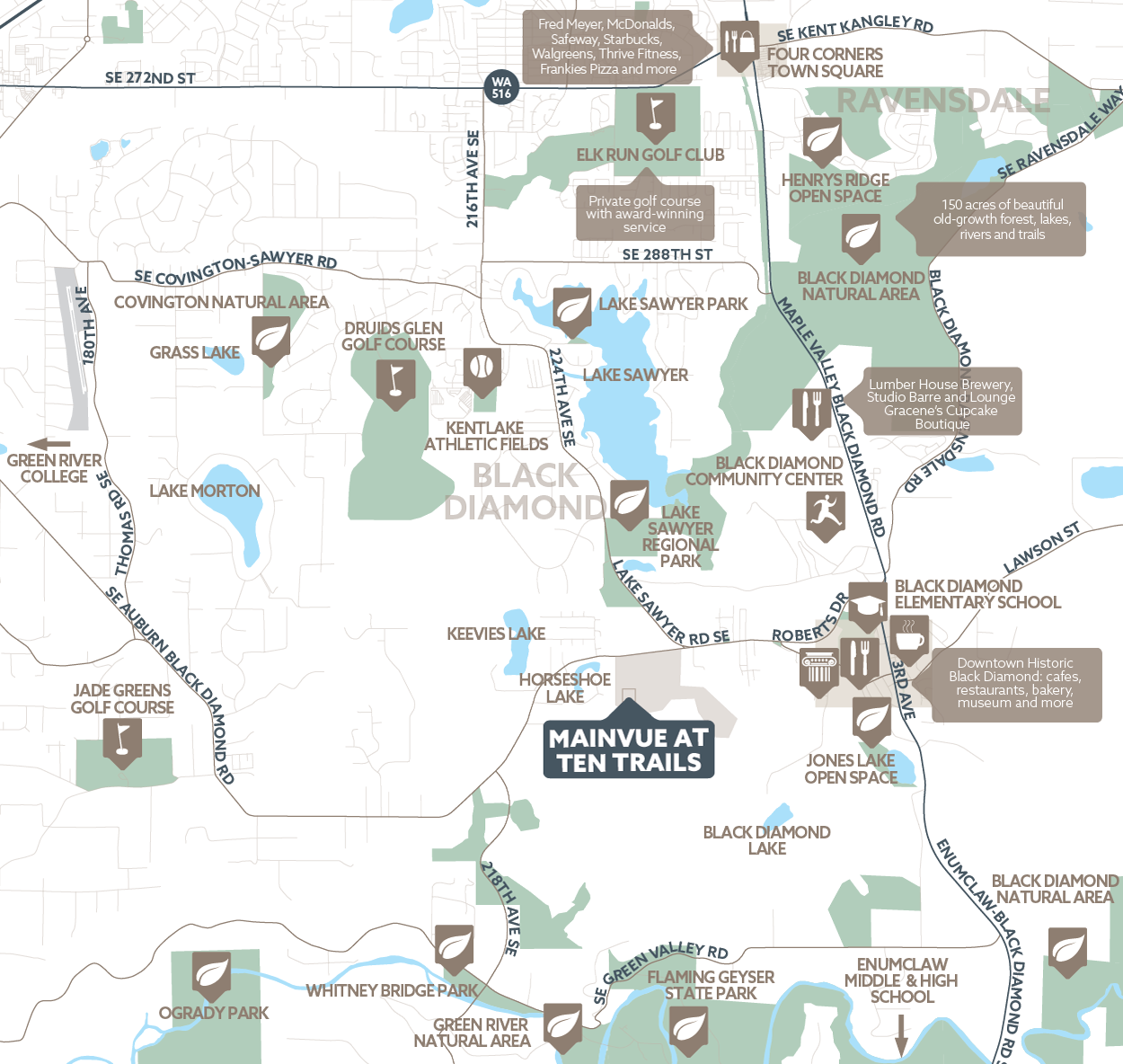 MainVue at Ten Trails amenity map